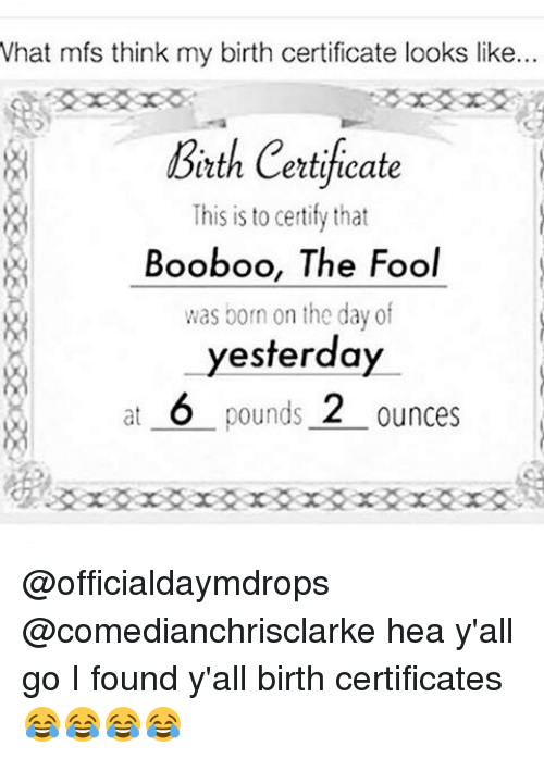 What Mfs Think My Birth Certificate Looks Like Beth Certificate This ...