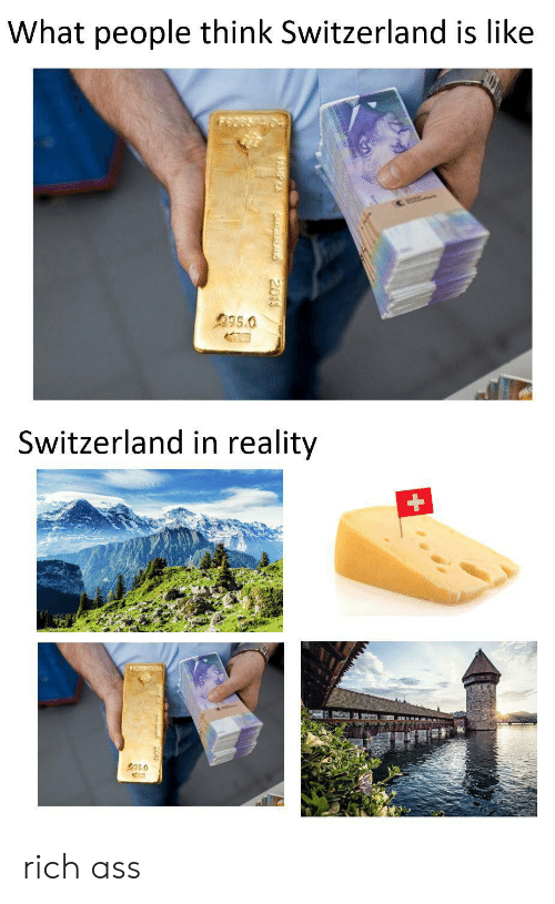 What People Think Switzerland Is Like 9950 Switzerland in Reality 350  SurEALAND 2011 Rich Ass | Switzerland Meme on ME.ME