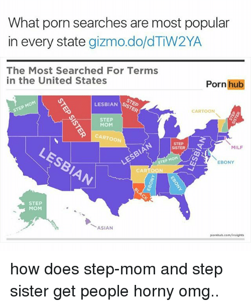 Asian, Doe, and Horny: What porn searches are most popular  in every state  gizmo do dTw2YA  The Most Searched For Terms  in the United States  Porn hub  LESBIAN  CARTOON  STEP  MOM  CARTOON  MILF  SISTER  STEP MOM  EBONY  CARTOON  STEP  MOM  ASIAN  pornhub.com/insights how does step-mom and step sister get people horny omg..