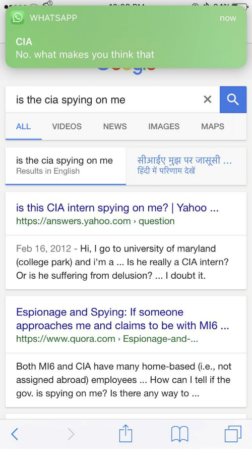 WHAT SAPP nOW CIA No What Makes You Think That Is the Cia