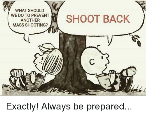 Memes, Back, and 🤖: WHAT SHOULD  TTRE ENT  SHOOT BACK  ANOTHER  MASS SHOOTING? Exactly! Always be prepared...