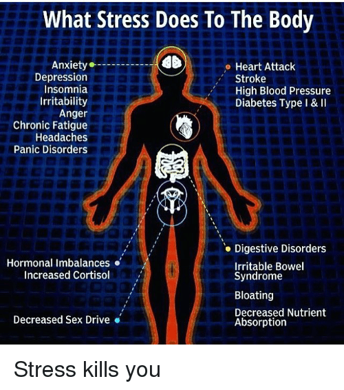 What Stress Does To The Body Anxiety Heart Attack Depression