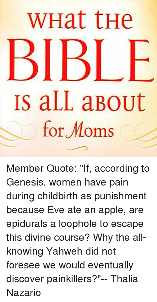 WHat tHe BIBLE IS aLL aBout for Moms Member Quote if