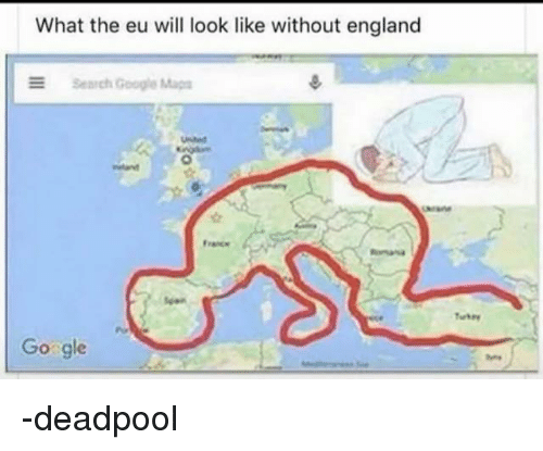 Map Of England Google Maps.What The Eu Will Look Like Without England E Search Google Maps