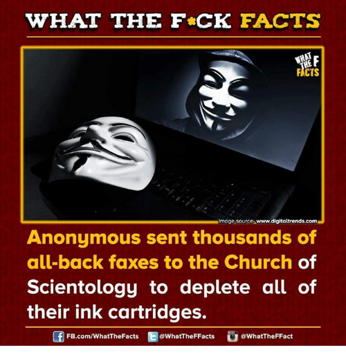 what the fck facts facts image source www digitaltrends com anonymous sent thousands 7401663 ✅ 25 best memes about church of scientology church of