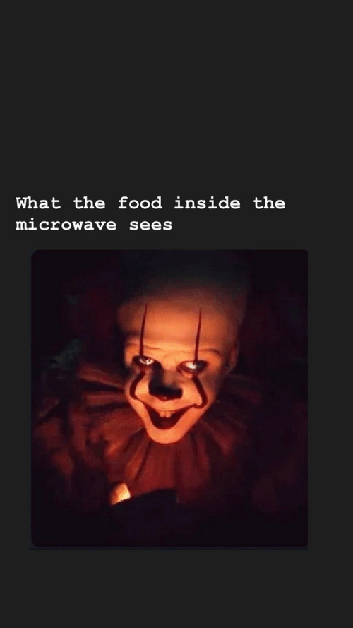Food, Microwave, and Inside: What the food inside the  microwave sees