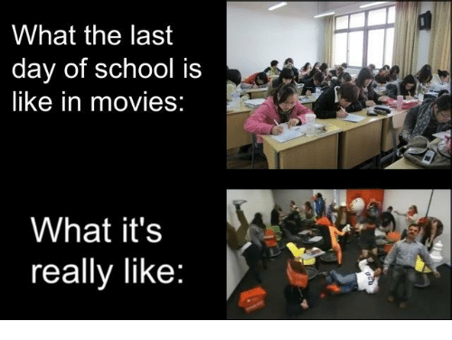 What the Last Day of School Is Like in Movies What It's