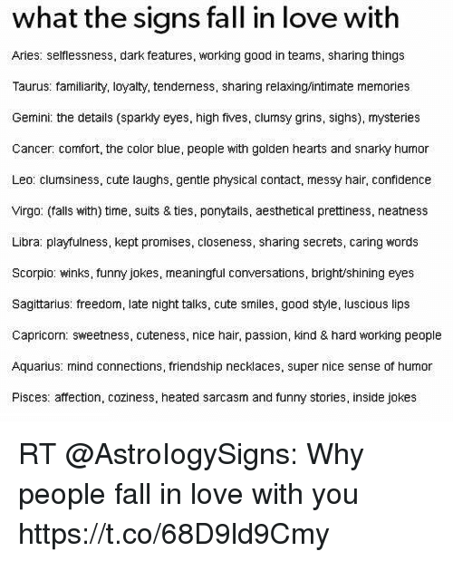 What the Signs Fall in Love With Aries Selflessness Dark Features