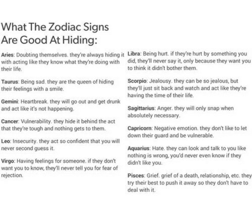 What the Zodiac Signs Are Good at Hiding Aries Doubting Themselves