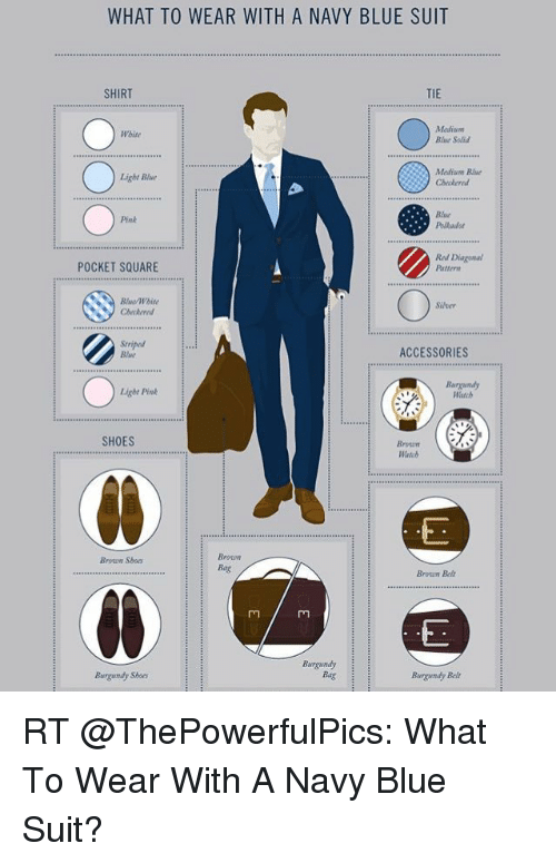 Memes Shoes And Browns What To Wear With A Navy Blue Suit Shirt