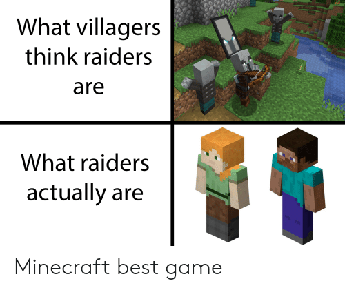 What Villagers Think Raiders Are What Raiders Actually Are Minecraft