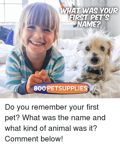 name of first pet