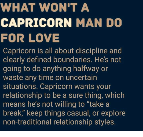How to love a capricorn male