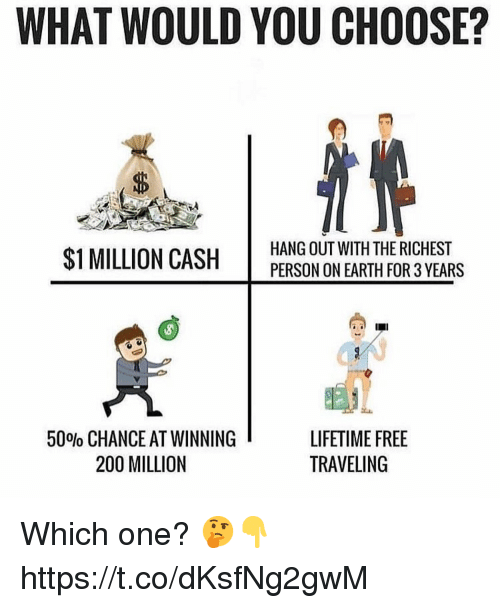 WHAT WOULD YOU CHOOSE? ID $1 MILLION CASH HANG OUT WITH THE