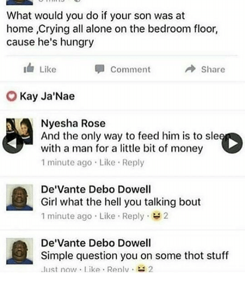 If Your Son Was At Home Crying All Alone On The Bedroom ...