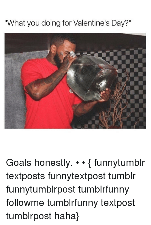 What You Doing For Valentine S Day Goals Honestly Funnytumblr