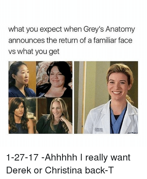 What You Expect When Greys Anatomy Announces The Return Of A