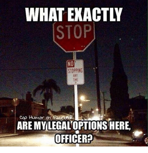 Memes, Office, and 🤖: WHATEXACTLY  STOP  NO  STOPPING  cop Humor an  ARE MY LEGALOPTIONS HERE  OFFICER