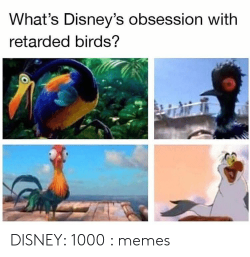 Disney, Memes, and Retarded: What's Disney's obsession with  retarded birds? DISNEY: 1000 : memes