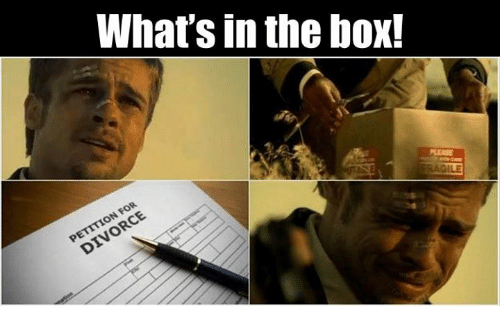 Boxing Memes And Divorce Whats In The Box Divorce