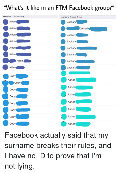 What's It Like in an FTM Facebook Group? Members Closed