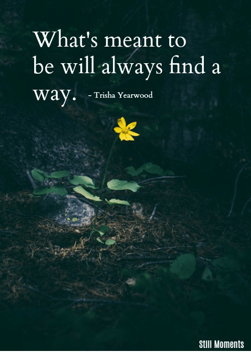 Whats Meant to Be Will Always Find a Way-Trisha Yearwood