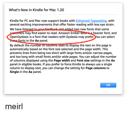 What's New in Kindle for Mac 120 Kindle for PC and Mac Now