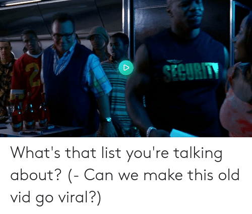 We Go Viral: What's That List You're Talking About?