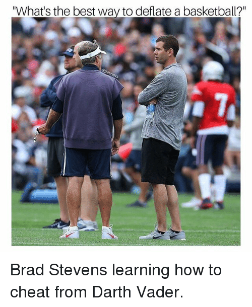 """Basketball, Darth Vader, and Memes: """"What's the best way to deflate a basketball?"""" Brad Stevens learning how to cheat from Darth Vader."""