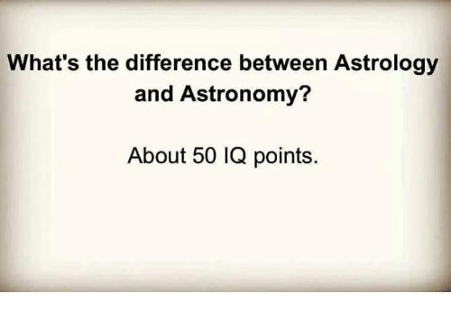 astronomy astrology difference