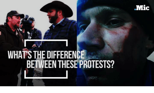 Memes, Protest, and 🤖: WHAT'S THE DIFFERENCE  BETWEEN THESE PROTESTS?  Mic