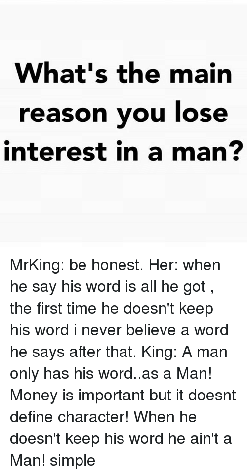 keep his interest