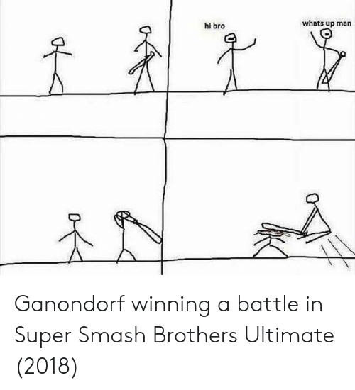 Whats Up Man Hi Bro Ganondorf Winning A Battle In Super