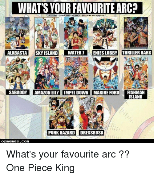 WHATS YOUR FAVOURITE ALABASTA SKY ISLAND DWATER 7 ENIESLOBBY