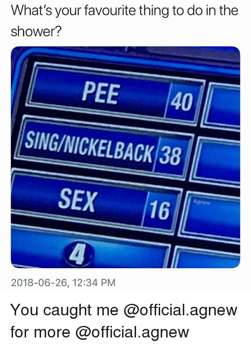 This idea Sex by nickle back