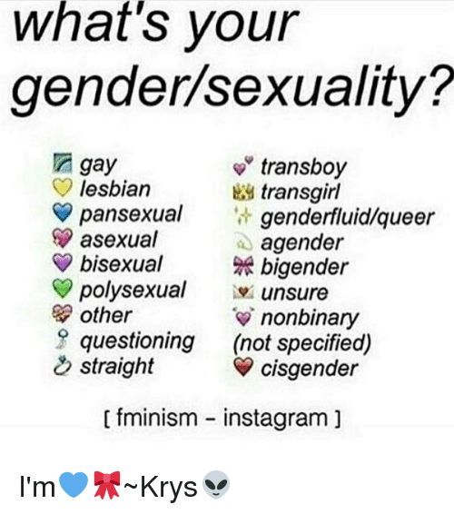 Whats Your Gender Sexuality Transboy Gay Lesbian -3998