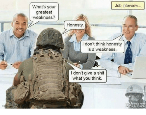 What's Your Greatest Weakness? Job Interview Honesty I Don't Think ...