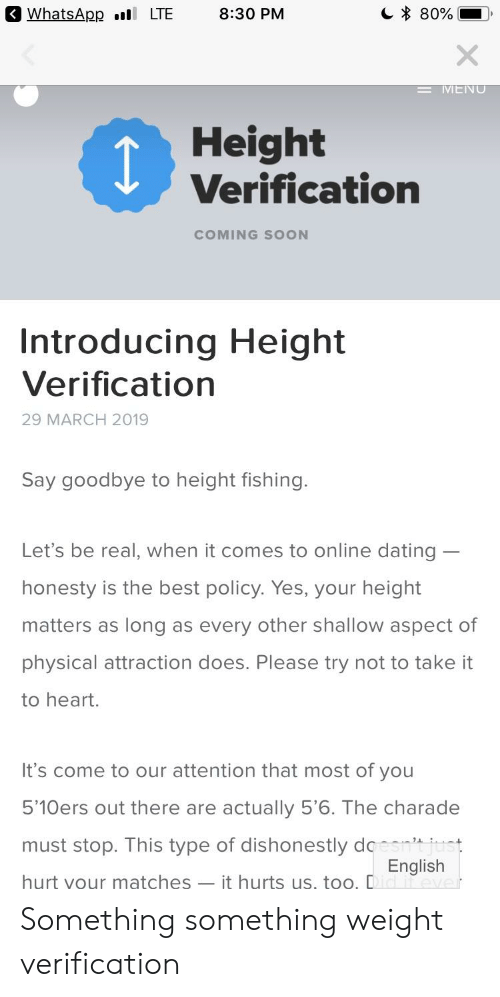 Honesty is best policy when it comes to online dating