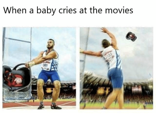 When a Baby Cries at the Movies | Movies Meme on ME ME