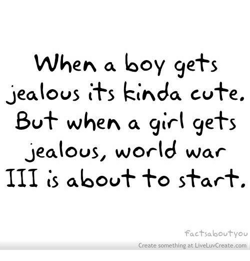 when a girl gets jealous