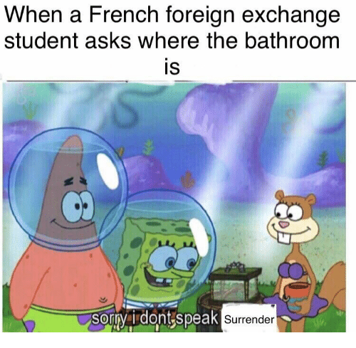 French Asks And Student When A Foreign Exchange Where The