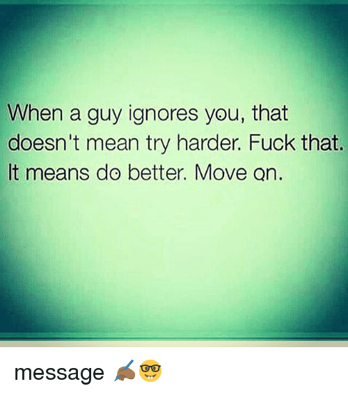 move on message