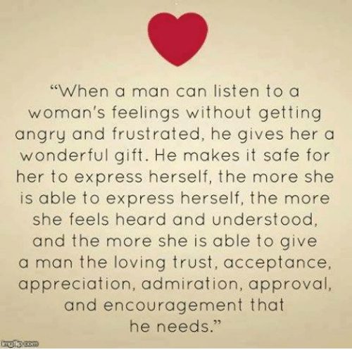 when a man gets angry at a woman