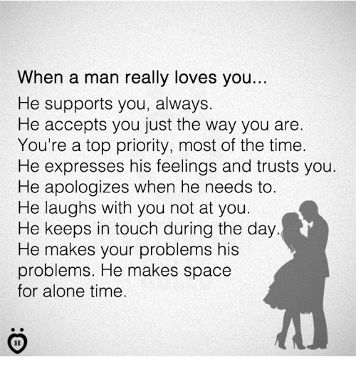How to know that a man loves you