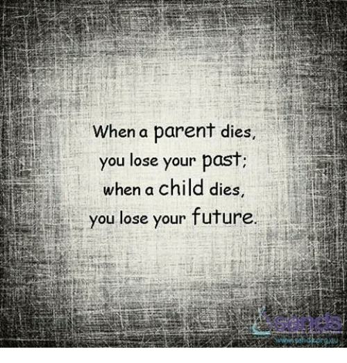 Memes And When A Parent Dies You Lose Your Past Child