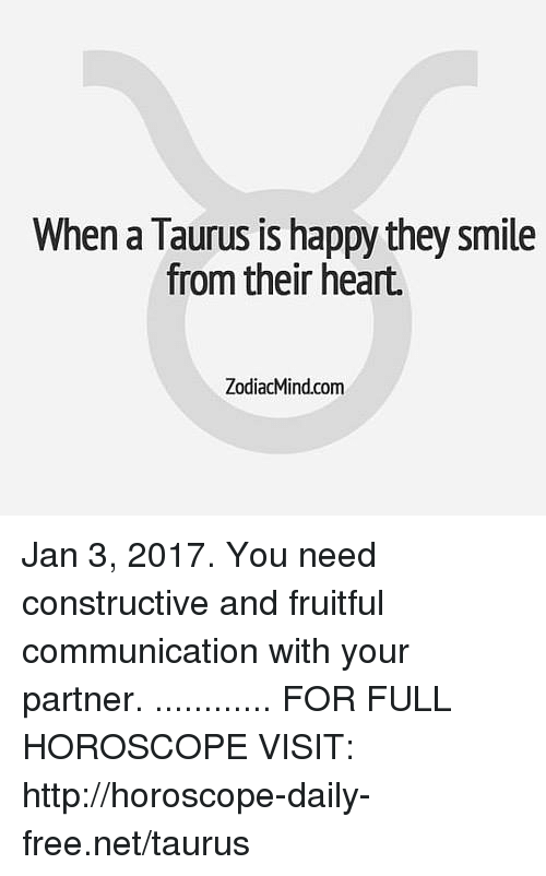 Taurus horoscope january 3