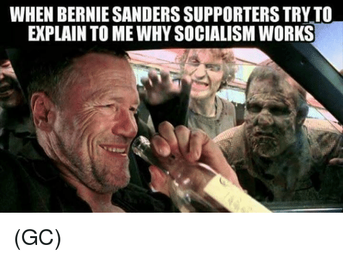 Bernie Sanders, Memes, and Socialism: WHEN BERNIE SANDERS SUPPORTERS TRY TO  EXPLAIN TO ME WHY SOCIALISM WORKS (GC)