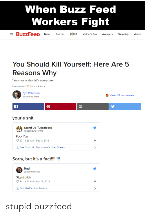 When Buzz Feed Workers Fight Quizzes GoT Mother's Day