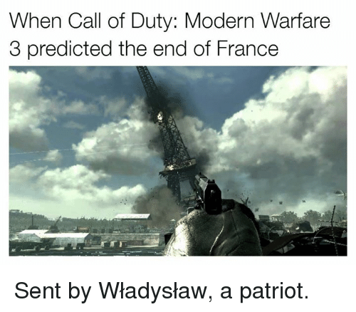 When Call Of Duty Modern Warfare 3 Predicted The End Of France