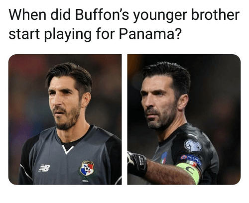 Memes, Panama, and 🤖: When did Buffon's younger brother  start playing for Panama?  RE